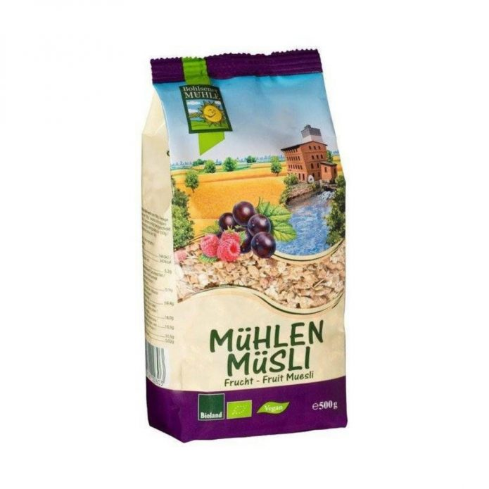 Ngũ cốc Muesli với trái cây khô hữu cơ 500g - Bohsener New