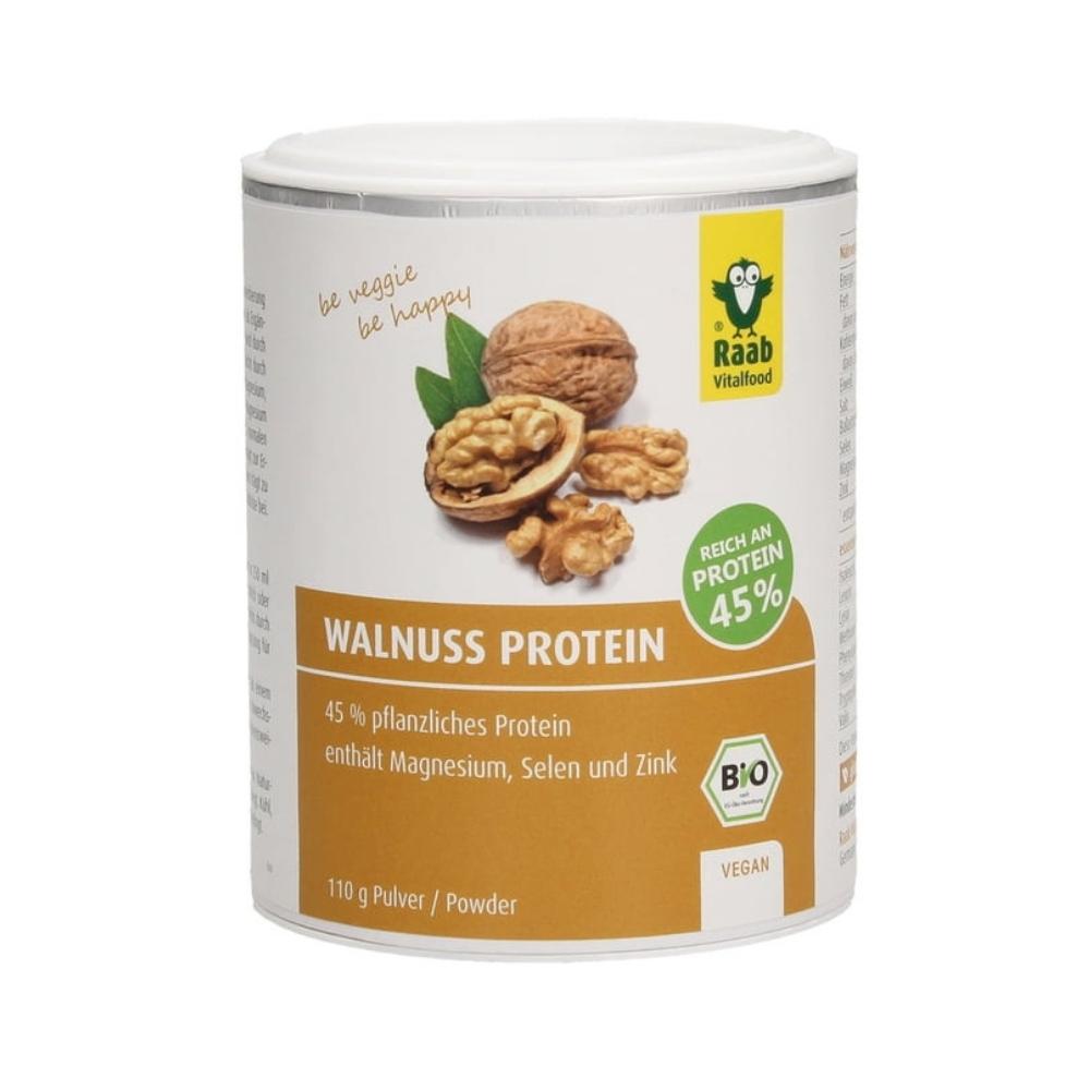 Bột protein hạt óc chó hữu cơ, 45% protein 110g - Raab
