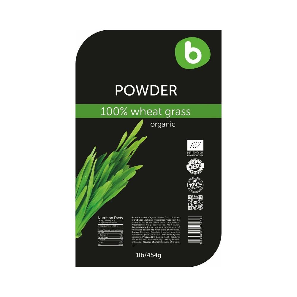 Bột cỏ lúa mì hữu cơ 454g - Bobica 3