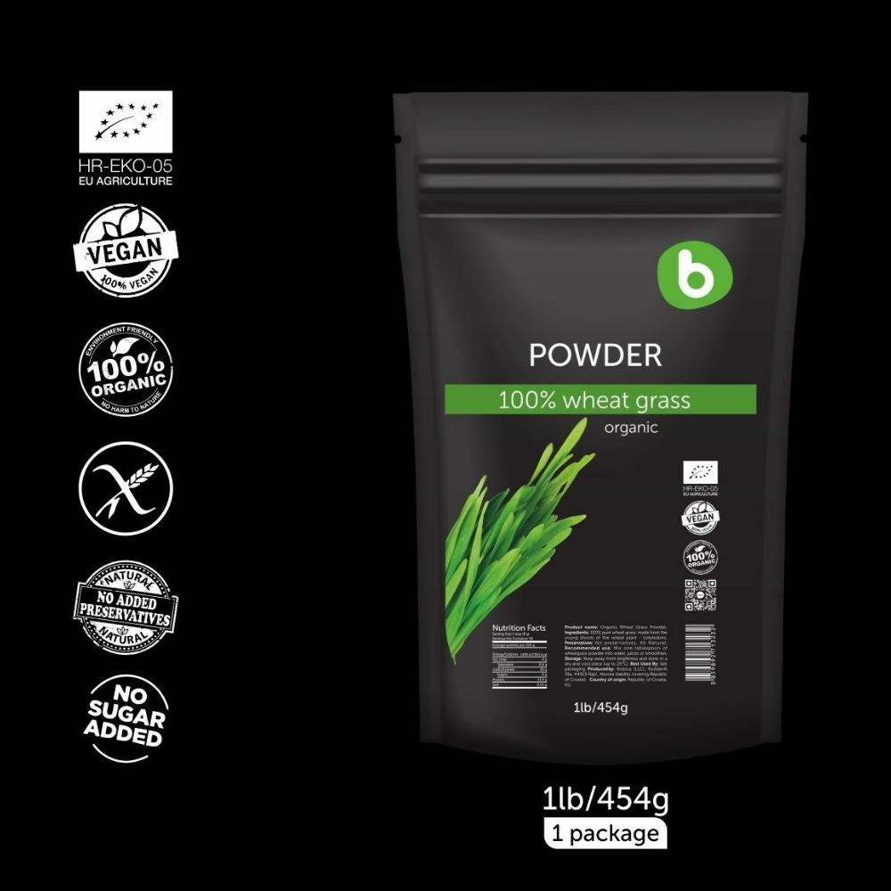 Bột cỏ lúa mì hữu cơ 454g - Bobica 4