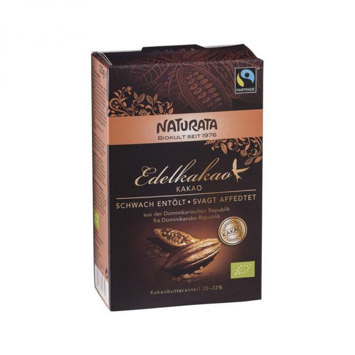 Bột cacao hữu cơ, bơ cacao 20-22% 125g - Naturata