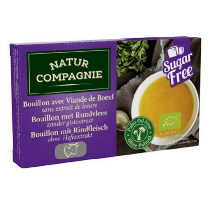 Bột soup hữu cơ vị bò không đường 88g - Natur Compagnie