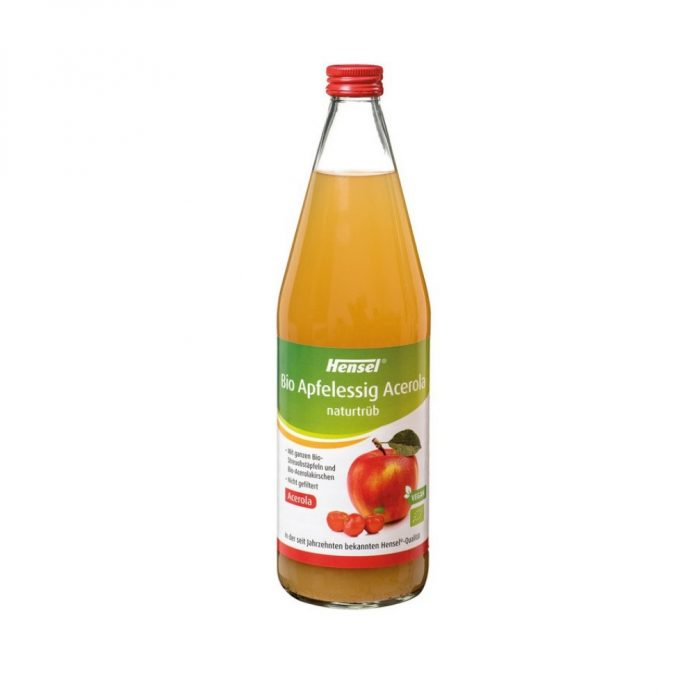 Dấm táo với nước sơ ri hữu cơ 750ml - Hensel