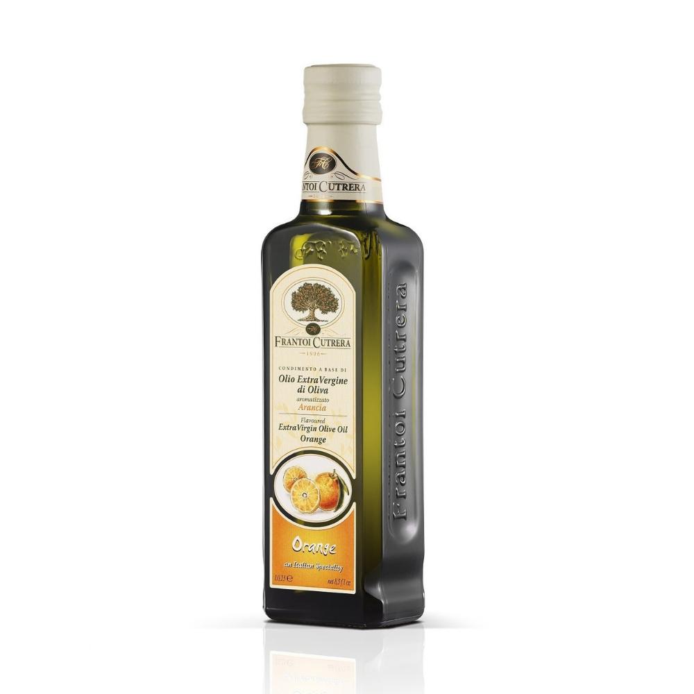 Dầu oliu hữu cơ ép lạnh nguyên chất vị cam 250ml- Frantoi