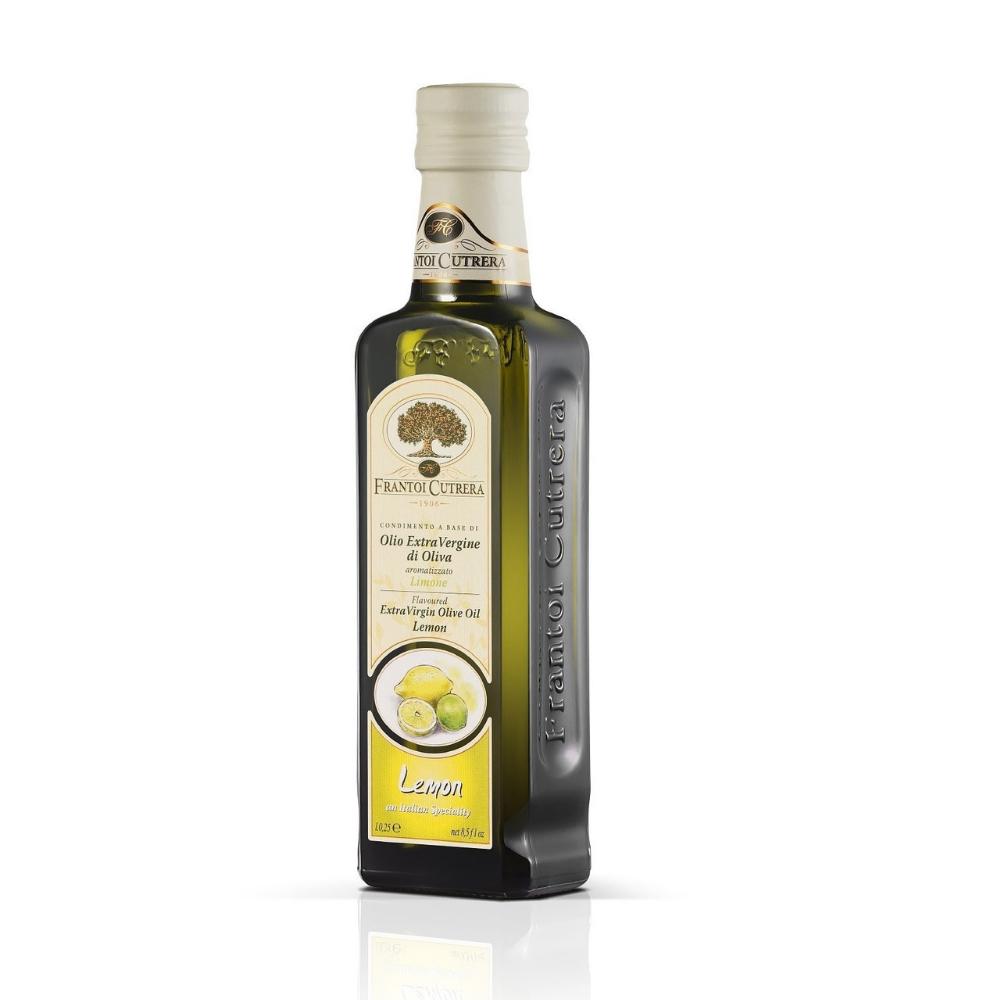 Dầu oliu hữu cơ ép lạnh nguyên chất vị chanh 250ml - Frantoi
