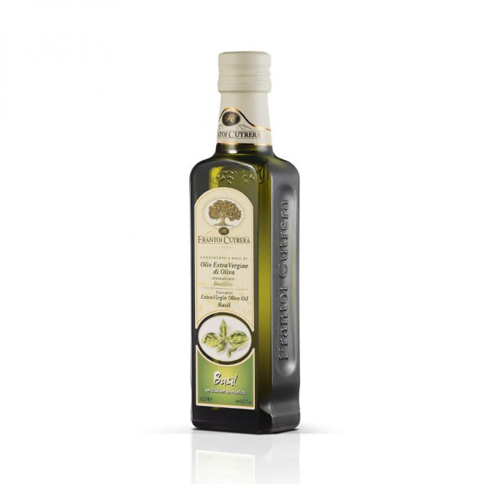 Dầu oliu hữu cơ ép lạnh nguyên chất vị húng quế 250ml