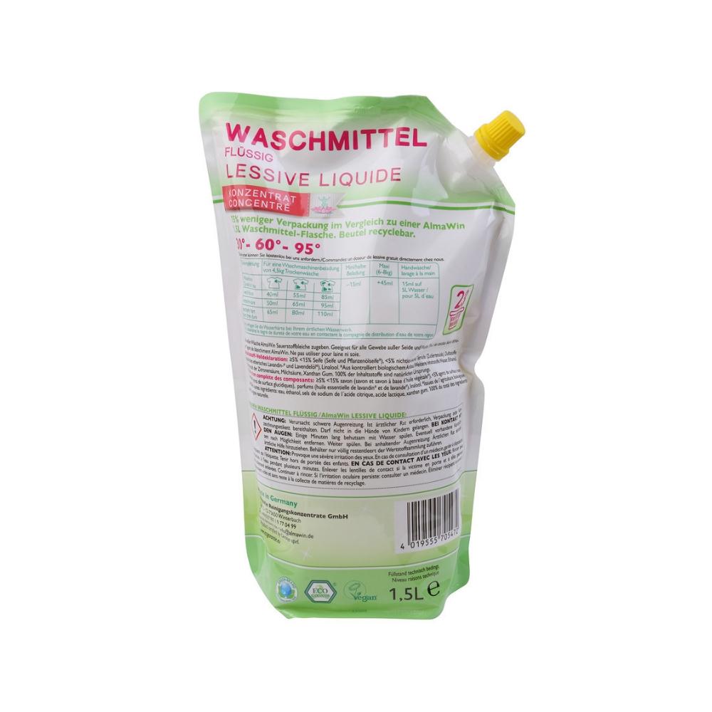 Dung dịch giặt hữu cơ (không dùng cho đồ lụa và cotton) 1.5 lít - Almawin 2