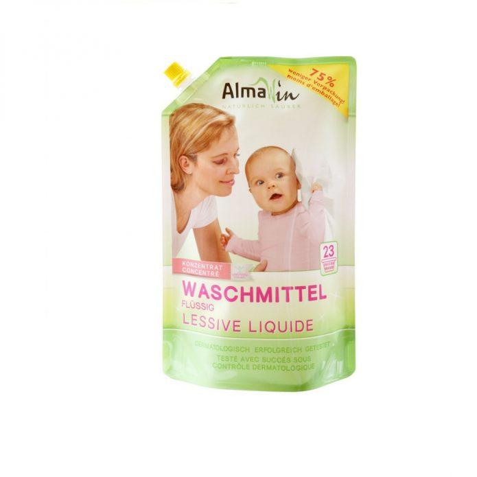 Dung dịch giặt hữu cơ (không dùng cho đồ lụa và cotton) 1.5 lít - Almawin