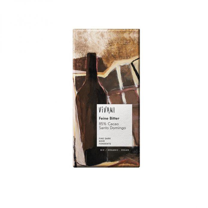 Kẹo socola hữu cơ 85% cacao 100g - Vivani