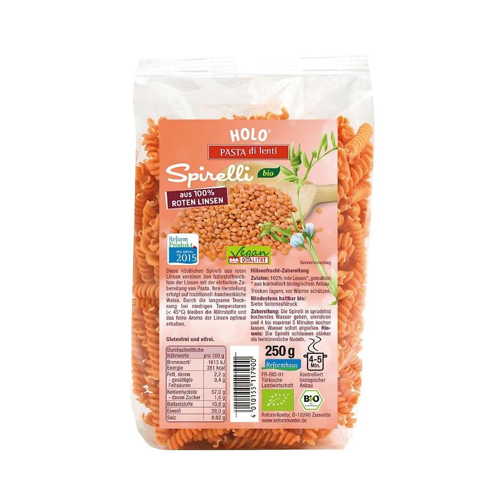Nui xoắn hữu cơ từ đậu lăng đỏ hữu cơ 250g - HoLo