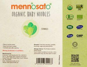 Mì ăn dặm hữu cơ cho bé vị cải bó xôi 3