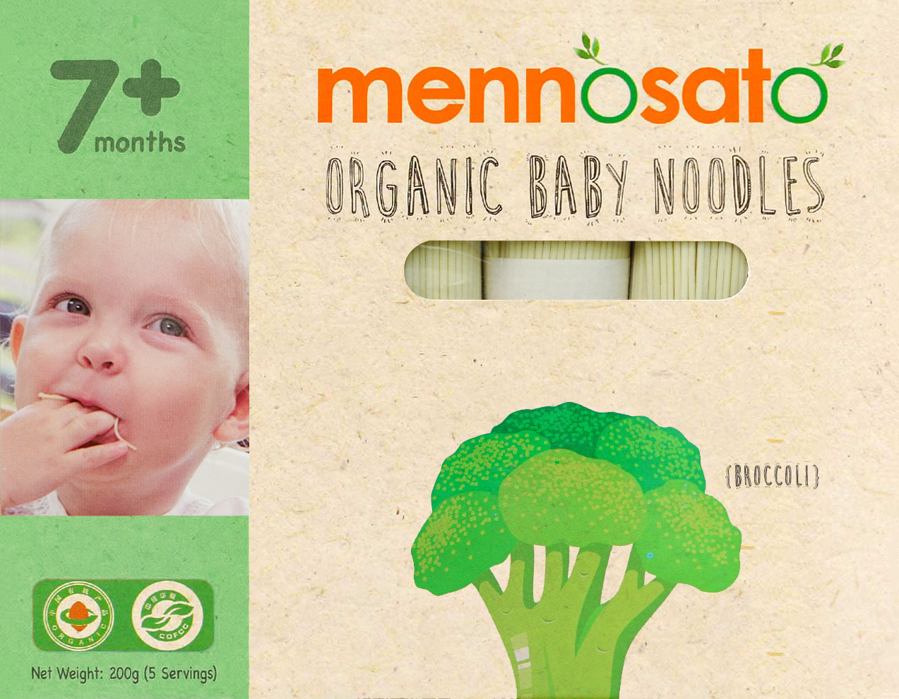Mì ăn dặm hữu cơ cho bé vị bông cải xanh 2