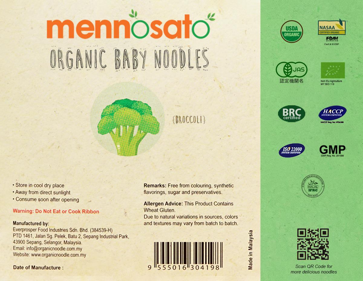 Mì ăn dặm hữu cơ cho bé vị bông cải xanh 3
