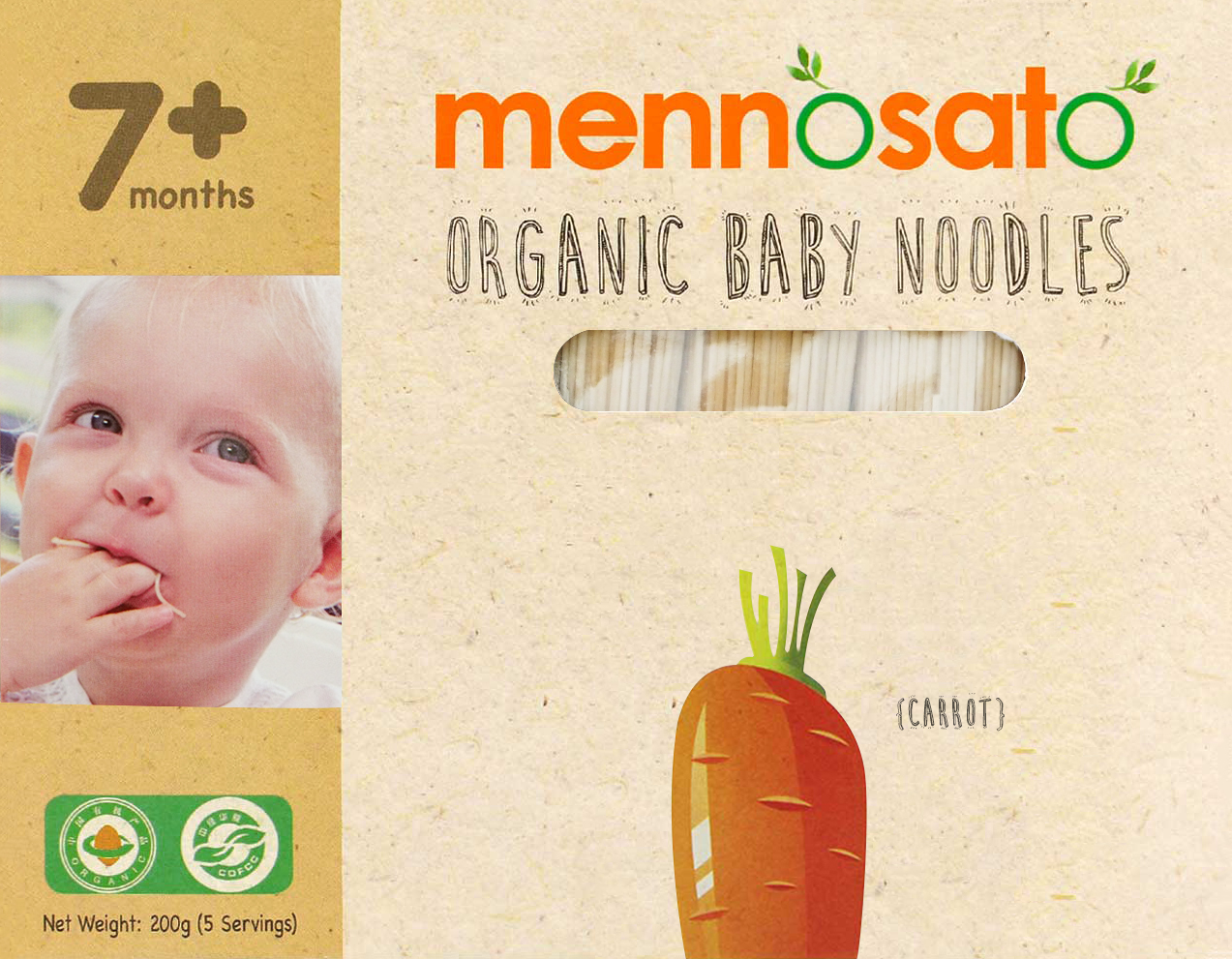 Mì ăn dặm hữu cơ cho bé vị cà rốt 2
