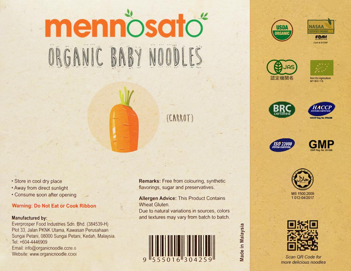 Mì ăn dặm hữu cơ cho bé vị cà rốt 3