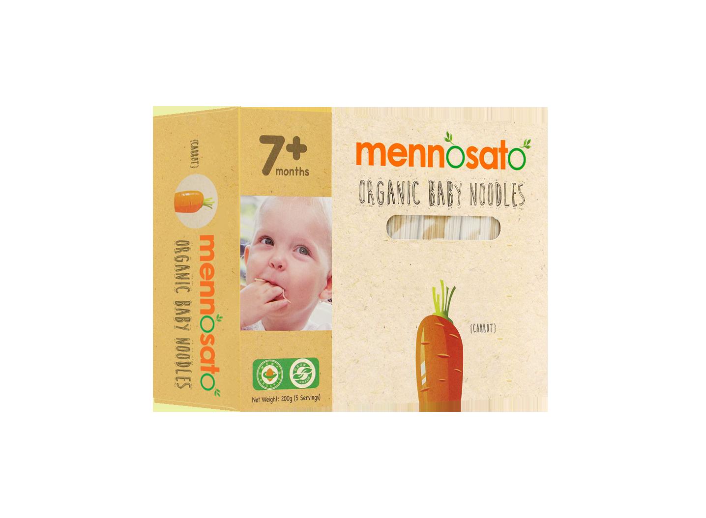 Mì ăn dặm hữu cơ cho bé vị cà rốt 1