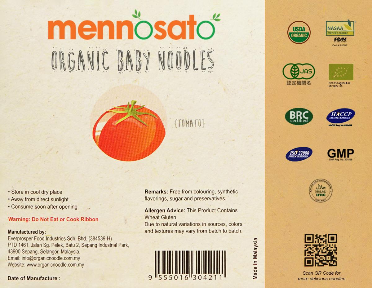 Mì ăn dặm hữu cơ cho bé vị cà chua 3