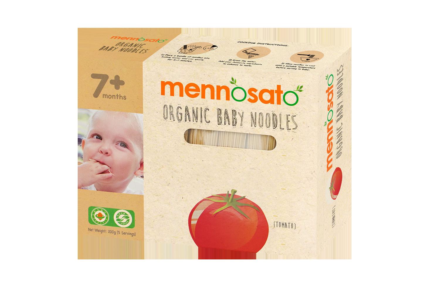 Mì ăn dặm hữu cơ cho bé vị cà chua 1