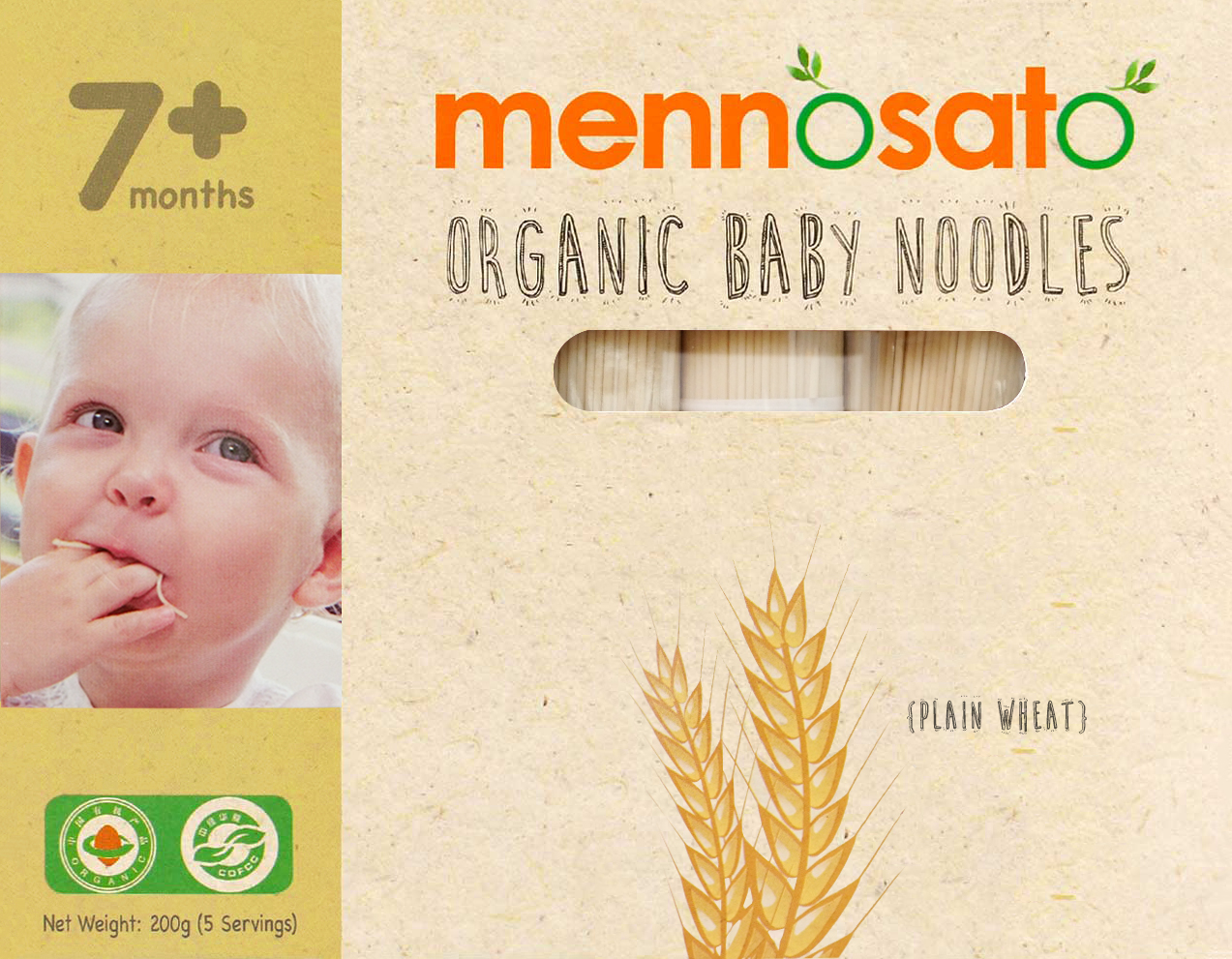 Mì ăn dặm hữu cơ cho bé vị lúa mì 2