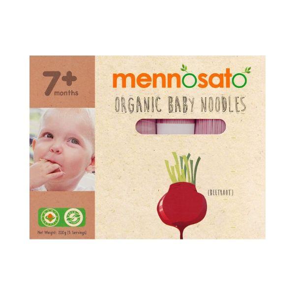 Mì ăn dặm hữu cơ cho bé vị củ dền Men No Sato 2
