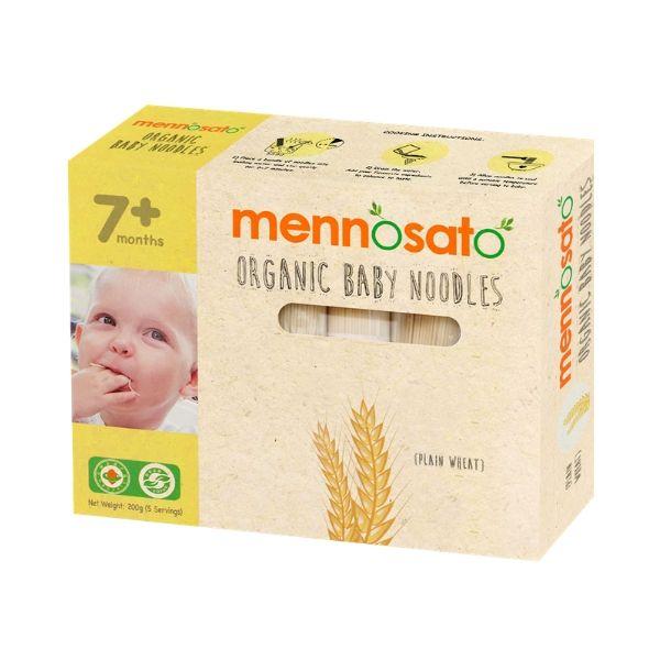Mì ăn dặm hữu cơ cho bé vị lúa mì Men No Sato 4