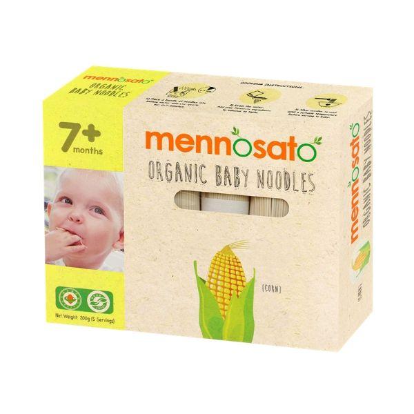Mì ăn dặm hữu cơ cho bé vị ngô bắp Men No Sato 4