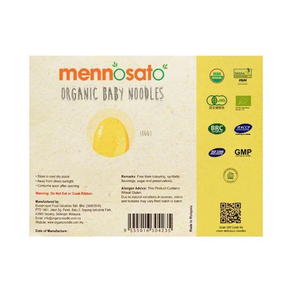 Mì ăn dặm hữu cơ cho bé vị trứng -Men No Sato 3