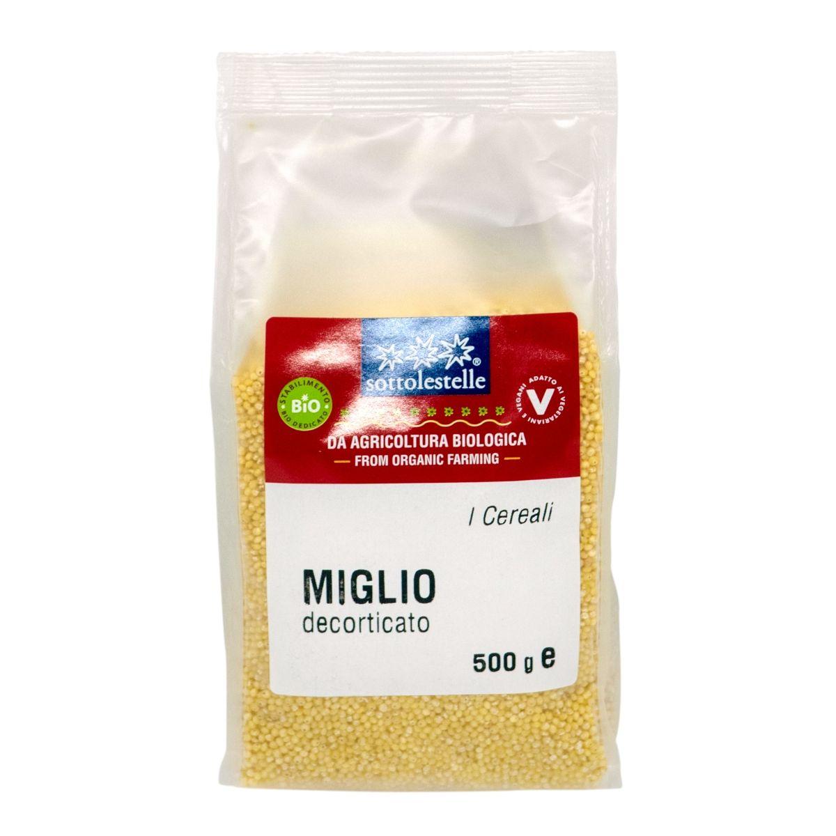 8032454070317 A Hạt kê hữu cơ đã bóc vỏ Sotto 500g - Miglio decorticato