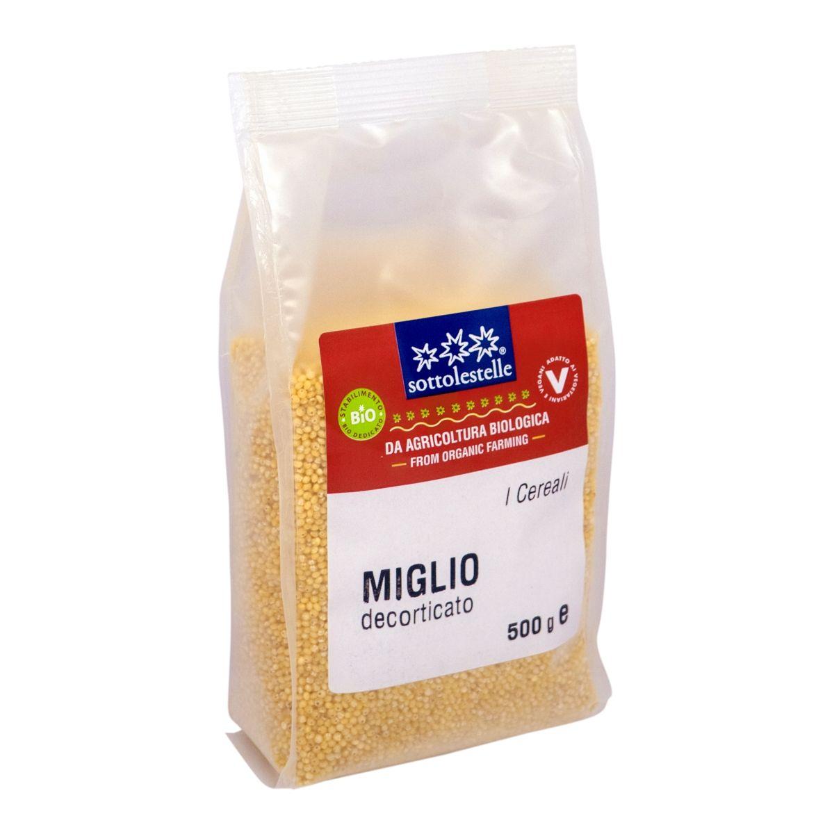 8032454070317 B Hạt kê hữu cơ đã bóc vỏ Sotto 500g - Miglio decorticato