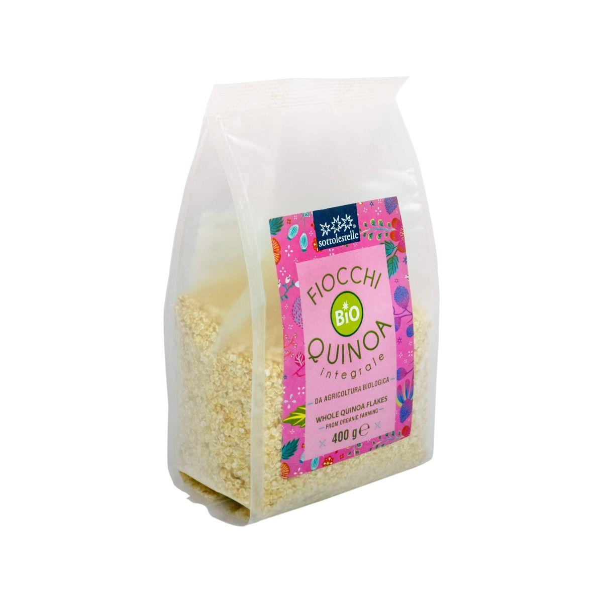 8032454070638 B Diêm mạch nguyên cám hữu cơ cán dẹp Sotto 400g - Fiocchi di Quinoa