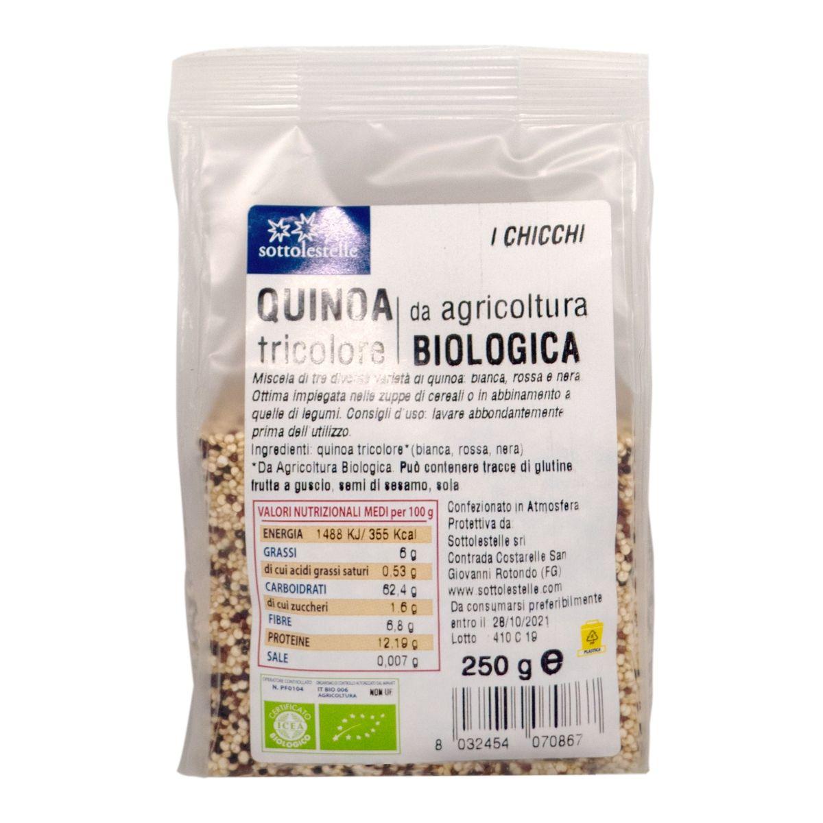 8032454070867 C Hạt diêm mạch hỗn hợp ba màu hữu cơ Sotto 250g - Quinoa Tricolore