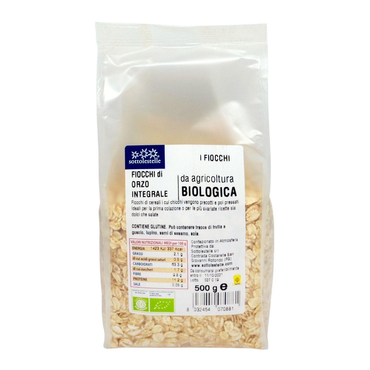 8032454070881 C Ý dĩ nguyên cám hữu cơ cán dẹp Sotto 500g - Fiocchi di Orzo
