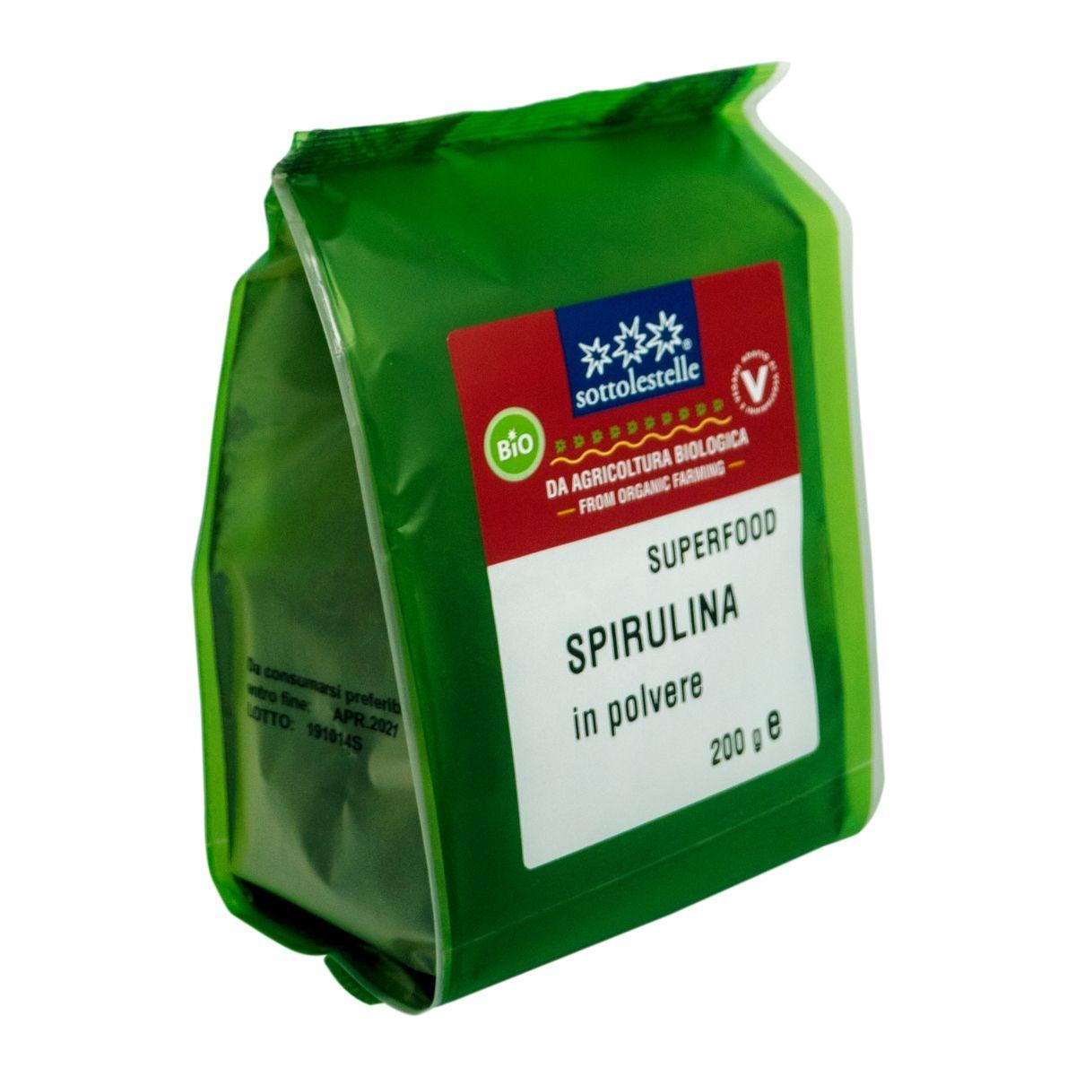 8032454071406 B Bột tảo Spirulina hữu cơ Sotto 200g - Spirulina in polvere