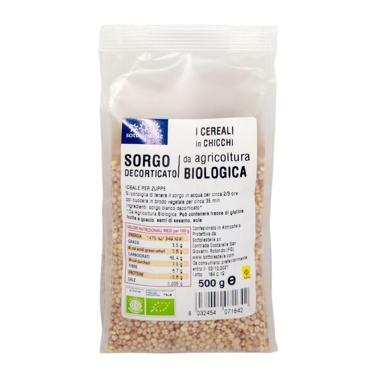 8032454071642 C Hạt siêu cao lương (bobo) hữu cơ đã bóc vỏ Sotto 500g - Sorgo decorticato