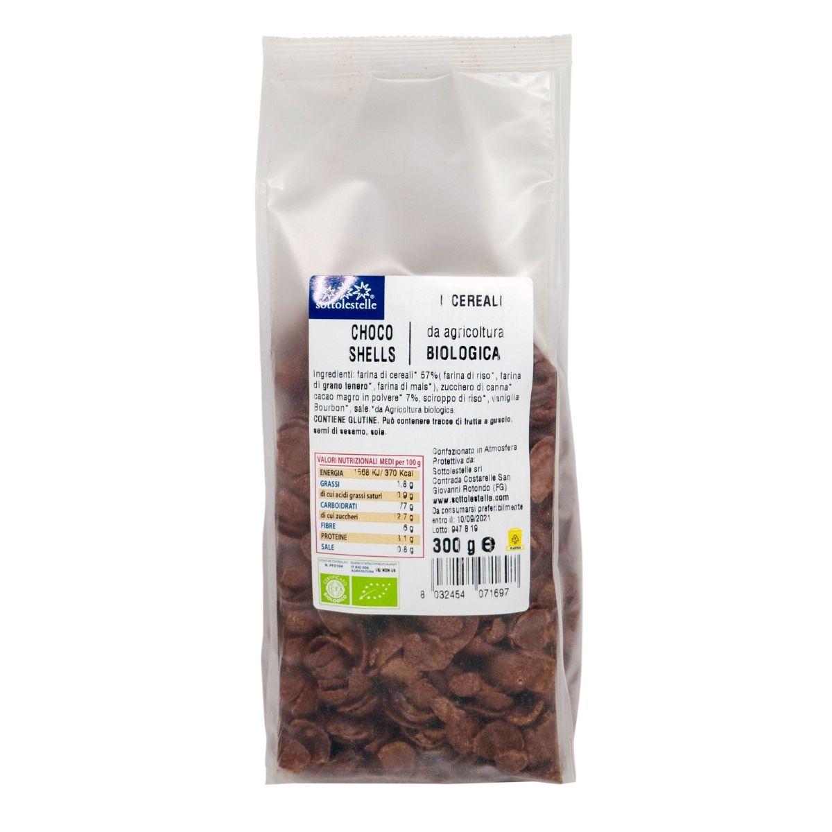 8032454071697 C Ngũ cốc hữu cơ socola dạng mảnh Sotto 300g - Choco Shells