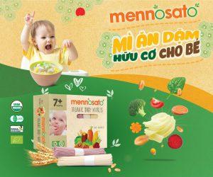 Mì rau củ quả dinh dưỡng cho bé Men No Sato