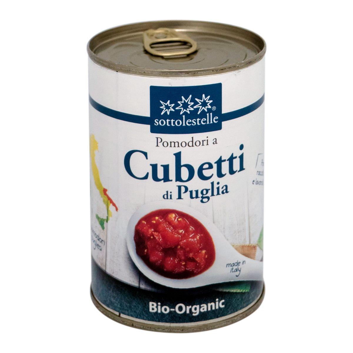 8032454001021 A Cà chua Ý hữu cơ băm nhuyễn Sotto 400g - Pomodori a Cubetti di Puglia