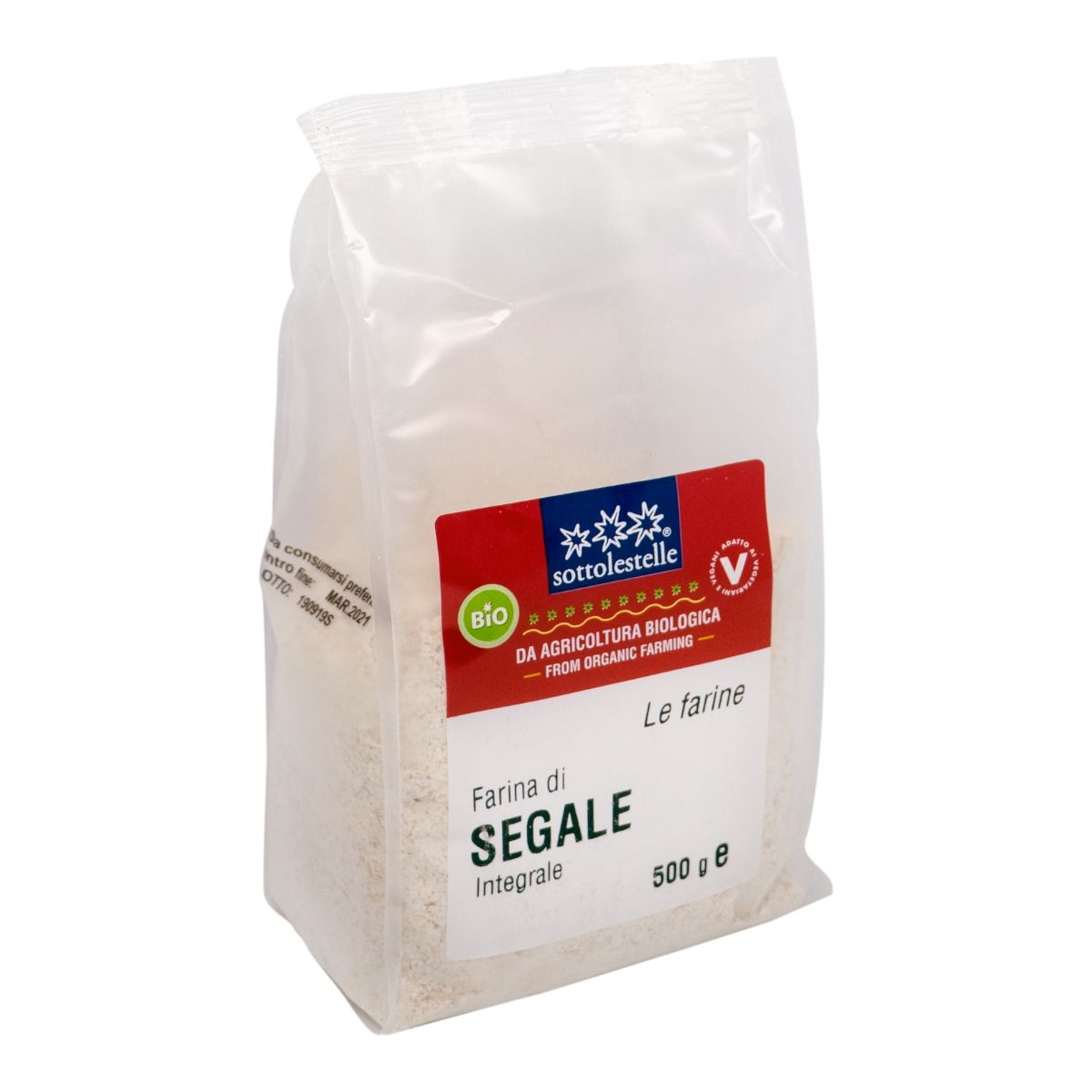 8032454070164 B Bột lúa mạch đen nguyên cám hữu cơ Sotto 500g - Farina di Segale Integrale