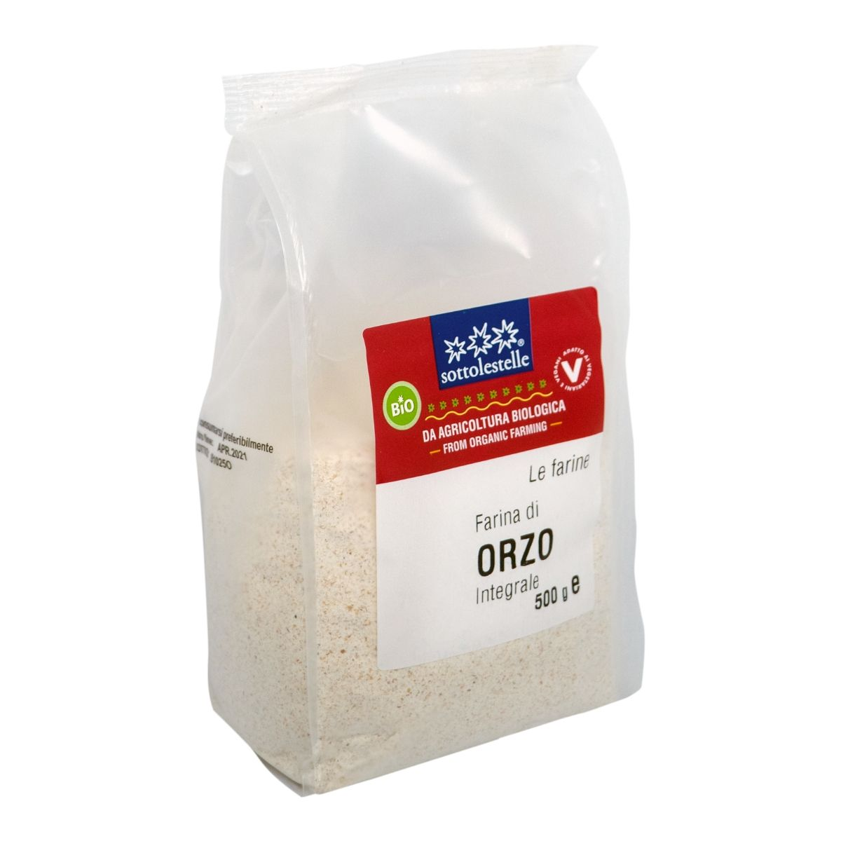 8032454071123 B Bột ý dĩ Barley nguyên cám hữu cơ Sotto 500g - Farina di Orzo Integrale