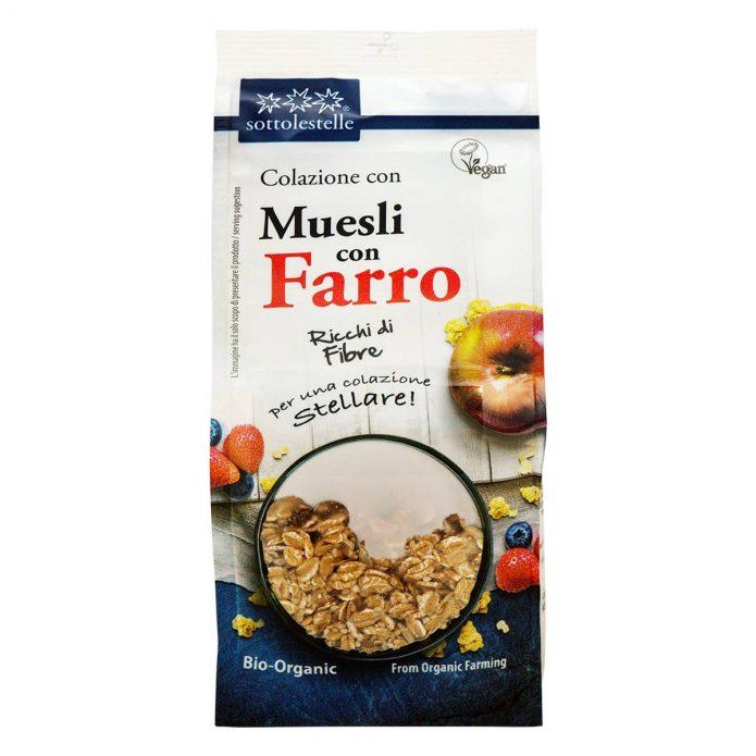 8032454071109 A Ngũ cốc dinh dưỡng Muesli nho khô hữu cơ Sotto 350g - Muesli Farro