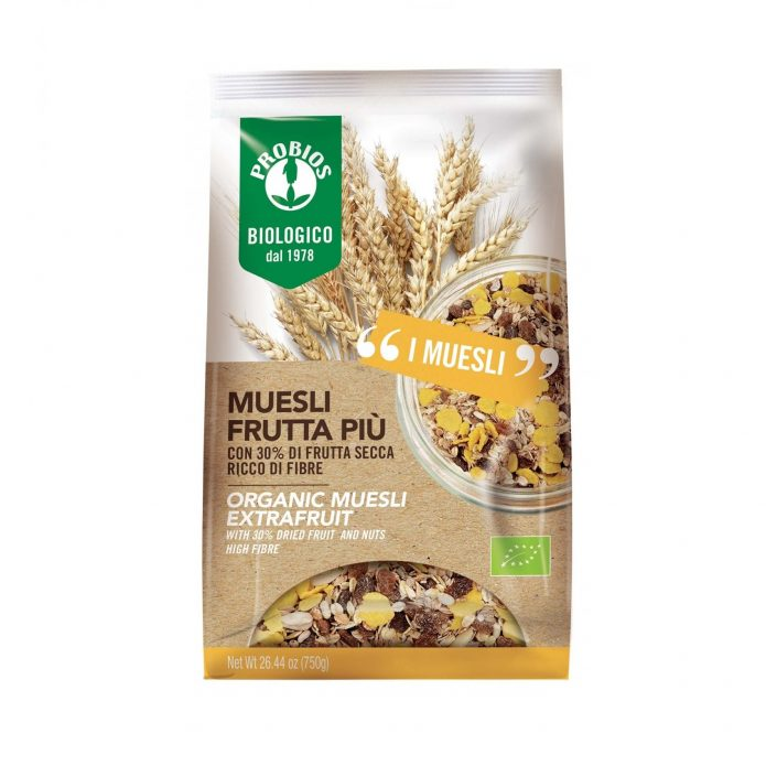Ngũ cốc Muesli trái cây hữu cơ 750g