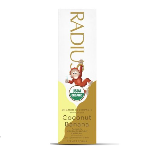 Kem đánh răng hữu cơ cho bé vị Chuối Dừa Radius